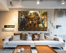 1 Panel Overwatch Hero Game Painting On Top-Rated Canvas Printing Type And The Wall Decorative Framework Or Frameless