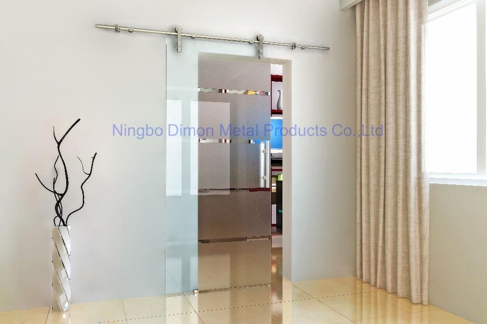 Dimon Stainless steel 304 door hardware glass sliding door hardware sliding door hardware DM-SDG 7002 without slidi