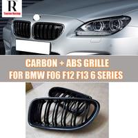 M6 Style F06 F12 F13 Carbon Fiber Front Bumper Mesh Grill Grille for BMW F06 F12 F13 6 Series 640i 650i 640D 2012 2016