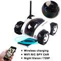 Carregador sem fio Wi-Fi controle remoto RC carro de brinquedo de vídeo da câmera do carro Noite visão Câmera de 3MP IP Telefone Inteligente móvel do carro tanque de controle remoto