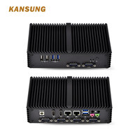 Linux Intel Micro Desktop Computer Gaming Fanless PFsense Firewall Dual Lan 6 RS 232 Barebone Mini PC Windows