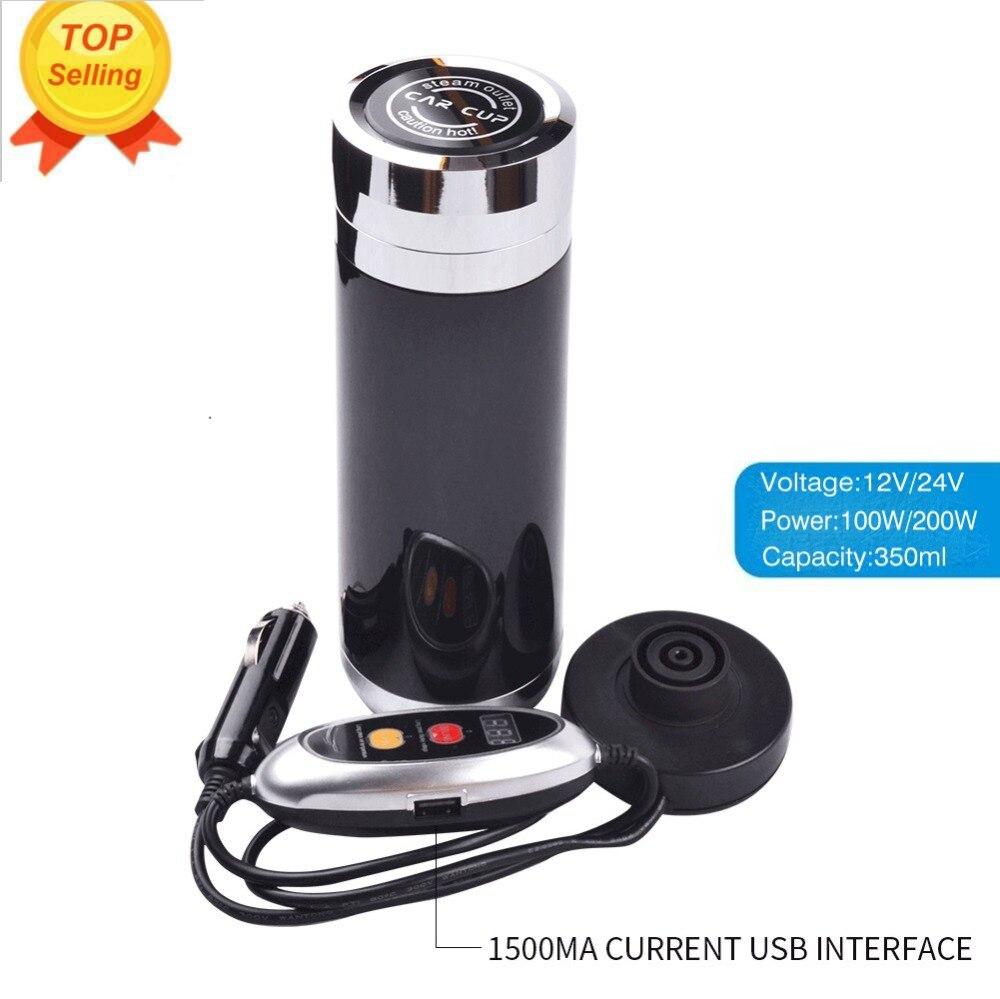Meilleur Anti-chaud voiture bouilloire voiture chauffage tasse café titulaire thé chauffé tasse eau bouillante électrique Thermos