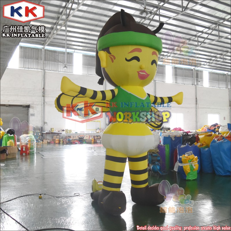 Event Display Inflatable Bee Girl Balloon Type Oxford Inflatable Cartoon Figures for AdvertisingEvent Display Inflatable Bee Girl Balloon Type Oxford Inflatable Cartoon Figures for Advertising