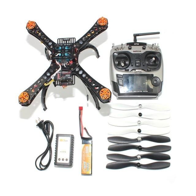 Volledige Kit DIY Mini Racing Drone 310 Glasvezel Frame Racer Helicopter MICRO F3 Vlucht Controller AT9 FS-i6 Zender F14891-H