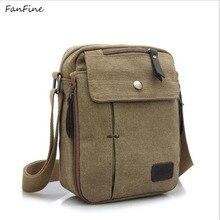 FanFine sacos de viagem dos homens frescos Da Lona moda saco do mensageiro dos homens marca de alta qualidade bolsa feminina ombro pacote bolsas
