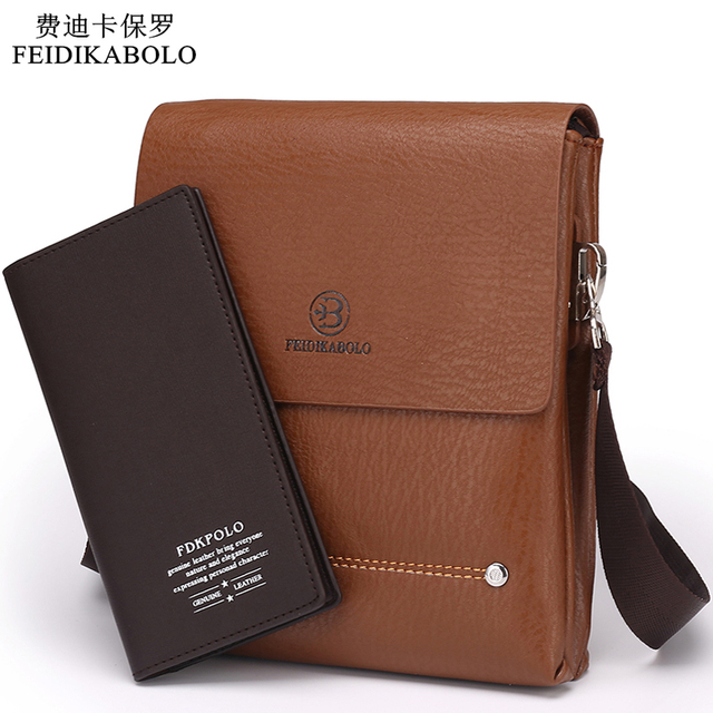 2015 Latest arrival Bilayer Leather Messenger Bag Cheap Men's shoulder bag Specials small leisure satchel Business envelope bag