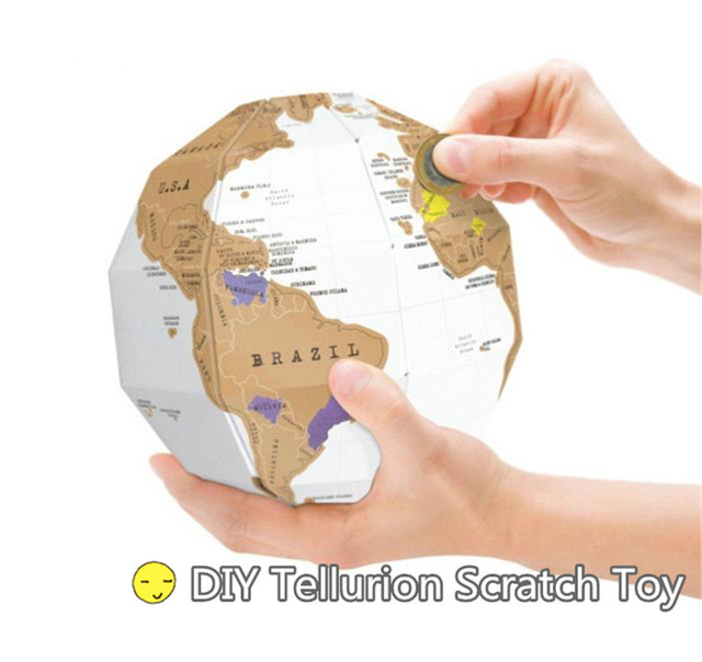 Travel world map diy 3d puzzle cubic combination tellurion creative travel world map diy 3d puzzle cubic combination tellurion creative adventurer journal gift record scratch toy gumiabroncs Images