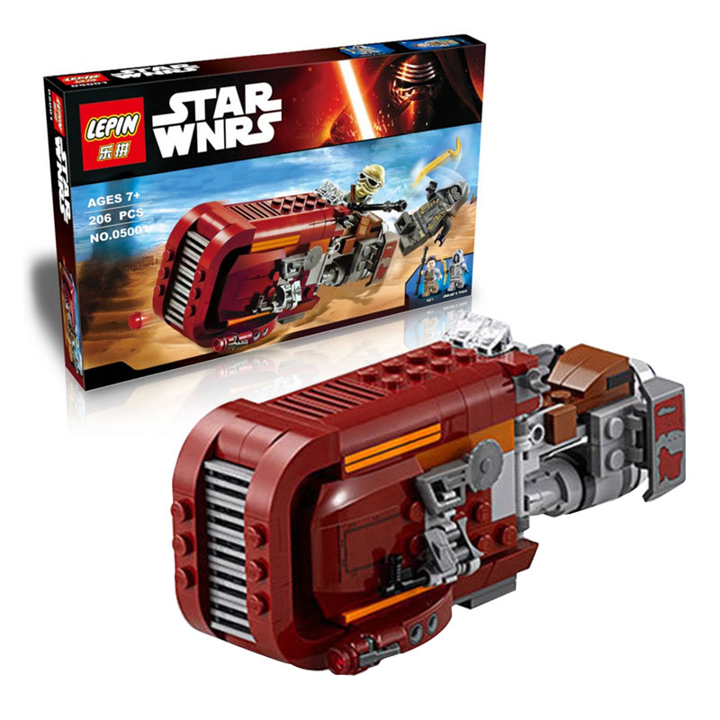 Star Wars 2016 font b LEPIN b font 05001 starwars The Force Awakens Rey s Speeder