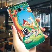 Bambi deer Hard Cover for Samsung Galaxy A6 2018 Ultra Thin Phone Case for Samsung Galaxy A40 A50 A70 A3 A5 Cases Skin cute panda hard cover for samsung galaxy a3 2016 print phone case for samsung galaxy a30 a40 a50 a70 a3 back shell