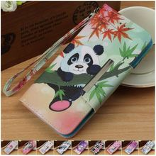 Cute Cat Tiger Elephant Panda Case For Apple iPhone X 8 7 6S 6 Plus 6Plus 6sPlus Fundas Wallet Stand Flip Leather Capa P03Z