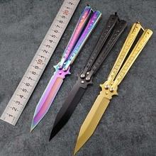 Butterfly in knife Transformation Karambit Knife practice folding Knife butterfl