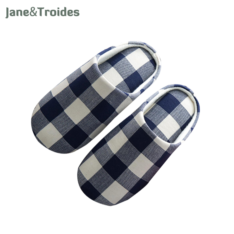 Classic Plaid Spring Men Slippers Home Bedroom Soft Comfortable Flip Flops Casual Indoor Outdoor Sandals Fashion