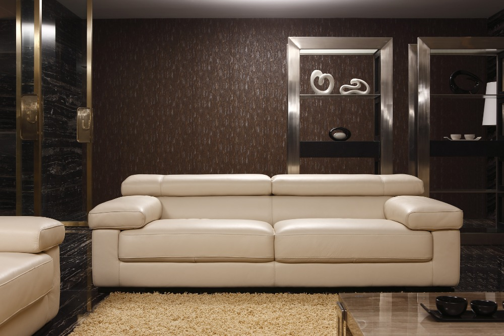 cow genuine/real leather sofa set living room sofa sectional/corner ...