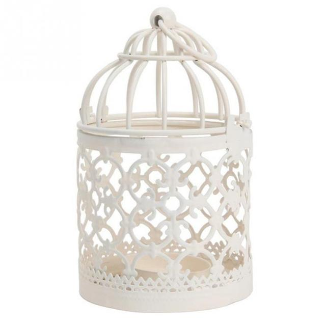 Iron Metal Antique Decorative Wedding Birdcage Wedding Decoration Bird Cage  Home Decoration 8*14cm