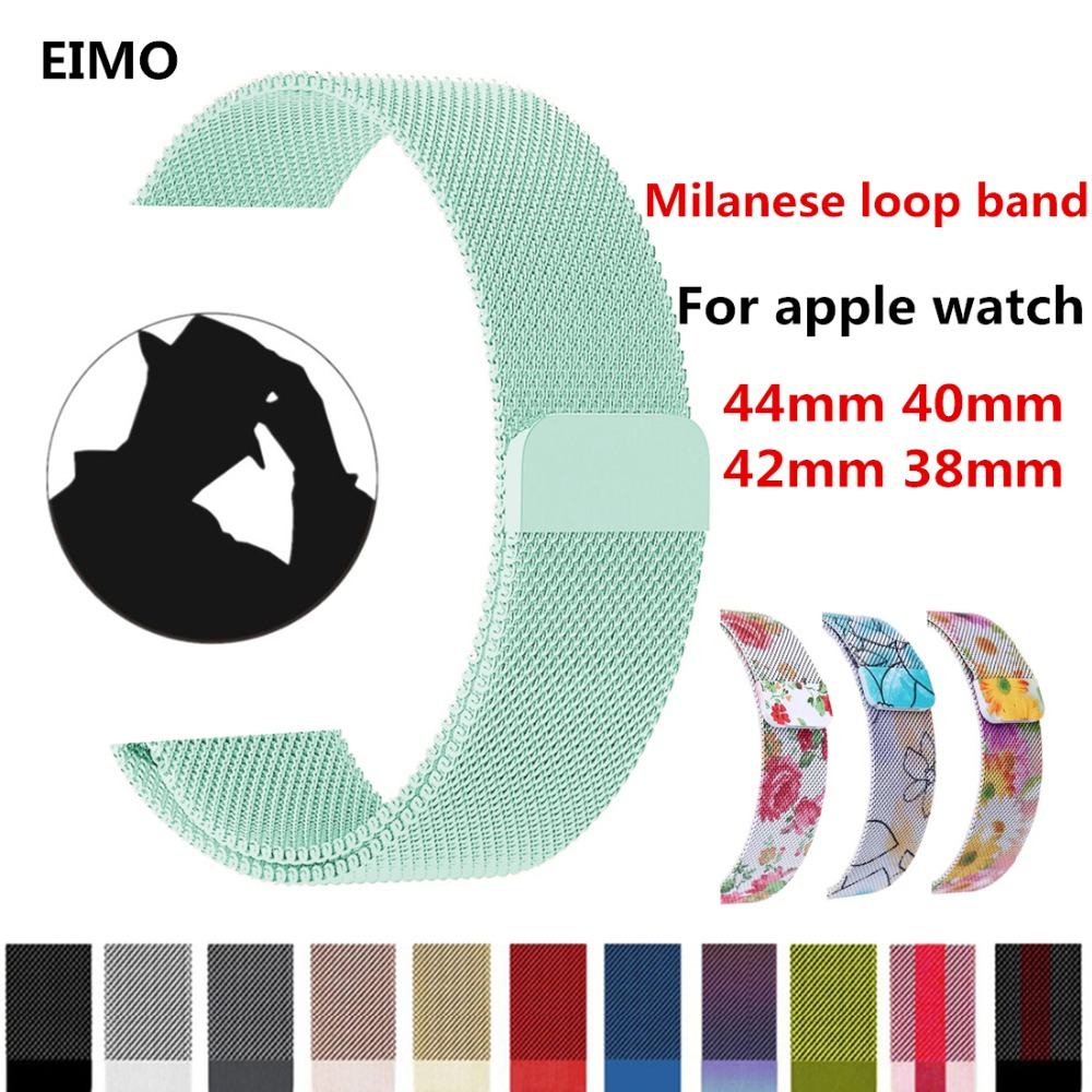 Milanese Loop Strap For Apple Watch band 42mm 38mm Iwatch series 3 2 1 Stainless Steel Link Bracelet Wrist Watchband Accessories so buy for apple watch series 3 2 1 watchbands 38mm belt 42mm stainless steel bracelet milanese loop strap for iwatch metal band