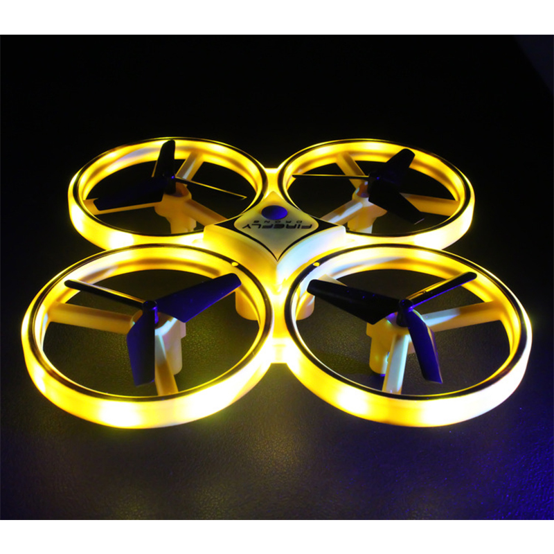 Novelty Lighting Led Remote Control Aircraft Four Axis Smart Remote Sensing Gesture Induction High Altitude Aircraft