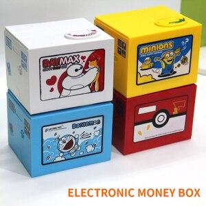 2018 Высокое качество Электронная коробка для денег Покемон Пикачу Копилка кража монета автоматически для детей подарок