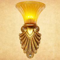 iron wall lamps retro living room bedroom bedside wall boutique hotel corridor gold LED lighting wall lights ZA FG313