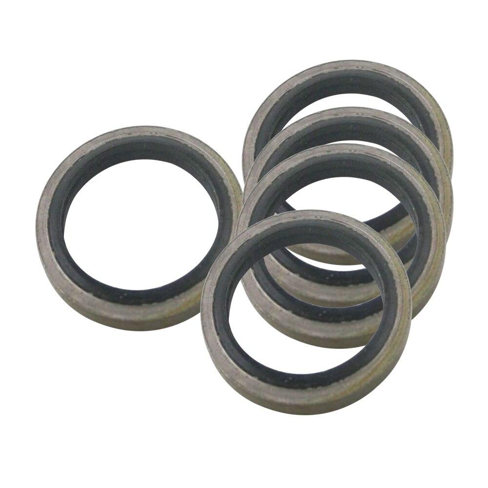 18/20/22/24/26mm sellado combinado arandela de Metal compuesto de caucho arandela Fit M18 /M20/M22/M24 junta de drenaje de aceite anillo