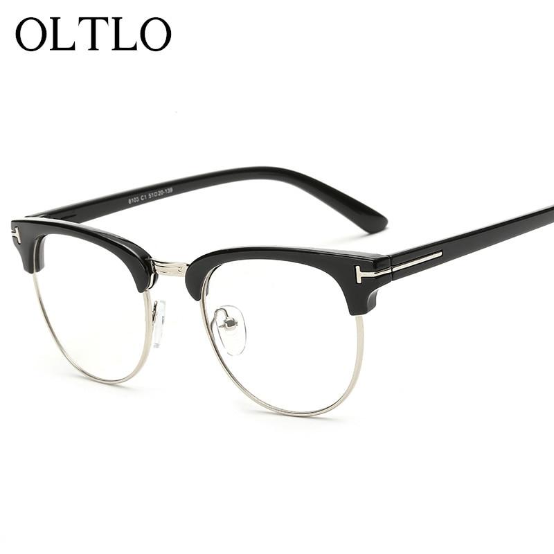 OLTLO New Semi Rimless Black Gafas de sol mujer Retro Stylish ...