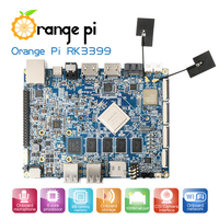 Orange Pi RK3399 2GB DDR3 16GB EMMC Cortex-A72 Type-C Double-CSI interface Development Board Support Android6.0 linux image