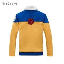 NARUTO Cosplay Costumes Uzumaki Naruto Coat Japanese Anime Jacket Cartoon Ninja Costumes Show Fancy Adult Winter Warm Coat