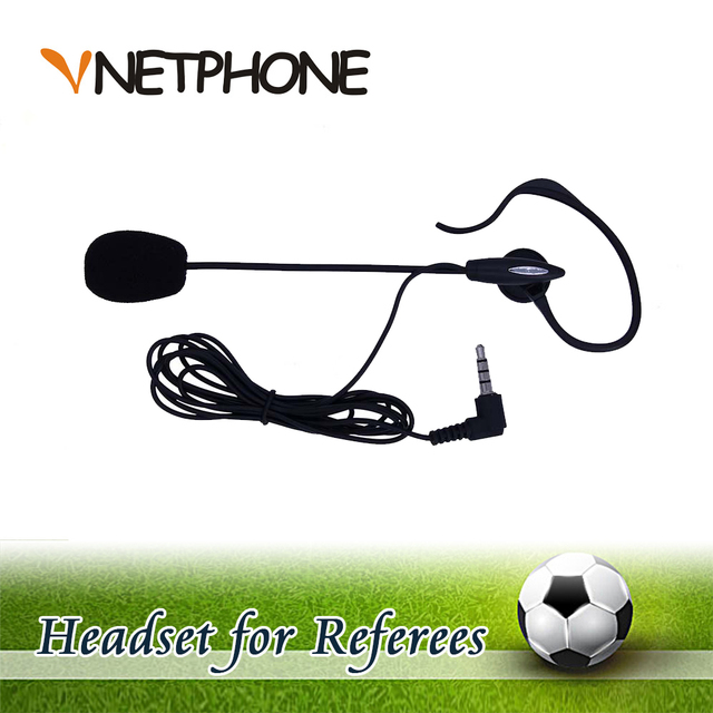 2016 Cascos Para Moto Ktm Helmet Football Referee Headset Earhook Monaural Earphone for Arbitration And for Coach (vnetphone)