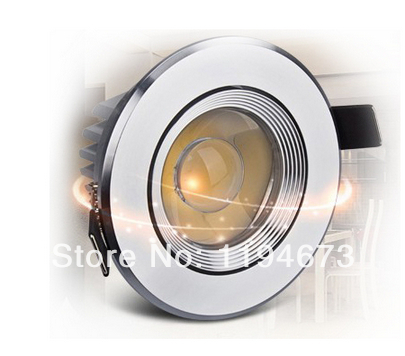 Бесплатная доставка Супер 9 Вт dimmable удара потолочные теплые/холодный белый Светодиодный Подпушка свет Встраиваемые лампы освещения гостин...