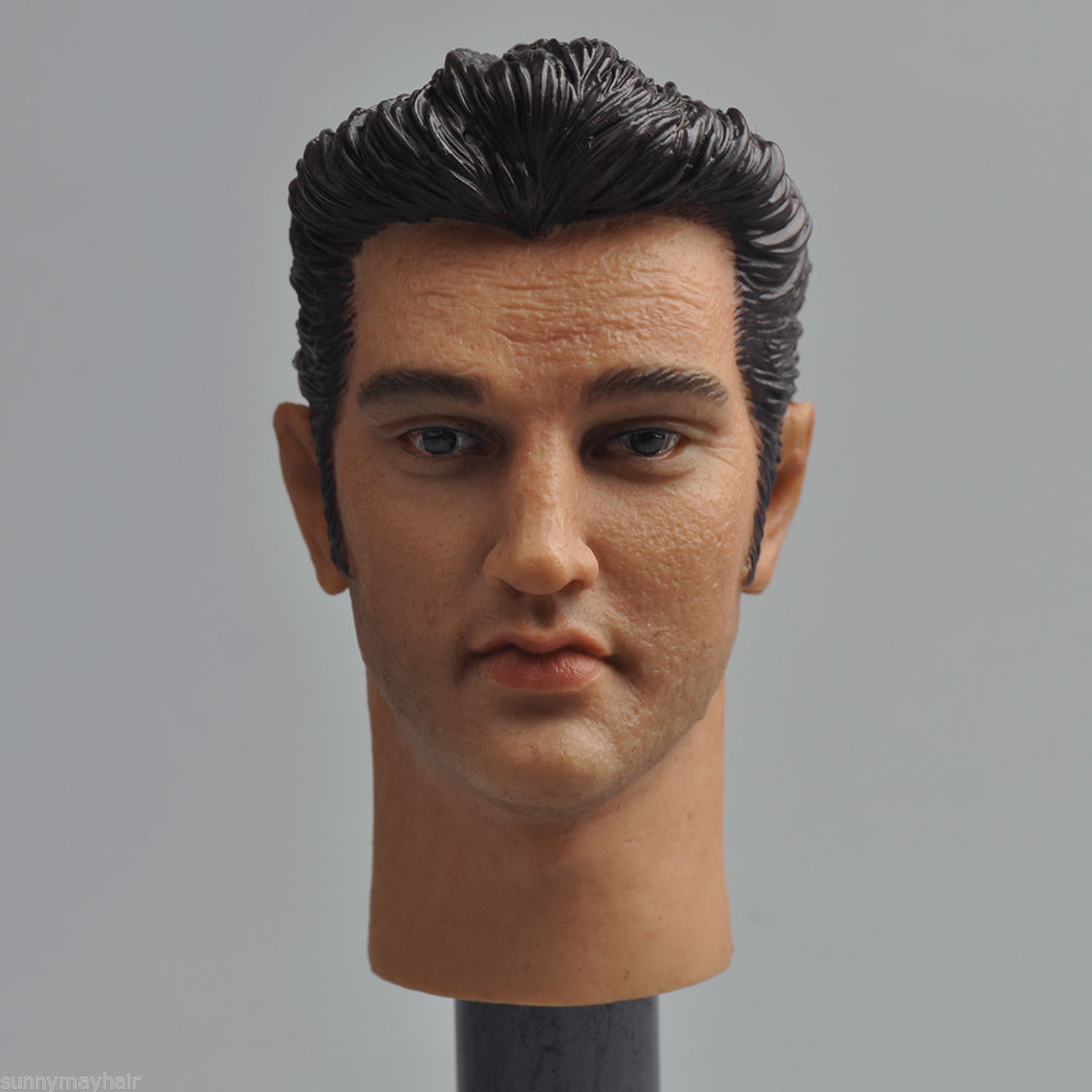 HP Classic Elvis Presley 1/6 Scale Male Head Sculpts Model Toys For 12 Action Figure Body Accessory Gifts Collections Freeshipp 1 6 scale male head sculpts model toys downey jr iron man 3 captain america civil war tony with neck sets mk45 model collecti f
