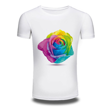 DY-207 Mens'T Shirts Color-Floral Printed Hiphop 100%Cotton Short-Sleeved T Shirt Tops mens t shirts White XXXL