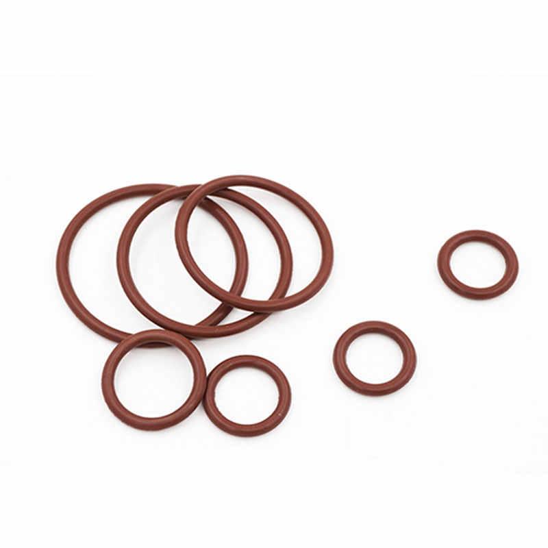 2 ชิ้น/ล็อตยางฟลูออรีนแหวนสีน้ำตาล FKM O ring Seal CS: 3.1 มม.OD51/52/53/54/55/56/57/58/60 มม. ยาง ORing ซีล OilRing ปะเก็น