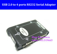 High Quality USB to RS232 4 port COM adapter card 9Pin USB 2.0 to 4 ports RS232 Serial DB9 COM Controller Connectors Adapter Hub
