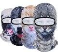 2016 Gorro de Invierno Deporte Al Aire Libre Ciclismo Esquí de La Motocicleta Máscara Campana Velo del sombrero skullies Balaclava UV 3D Animales Máscaras de Cara Completa gorros
