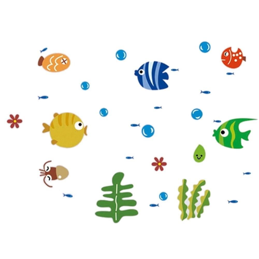 PVC Tropical Fish Bubble Sticker Kids Room Nursery Kitchen Bathroom ...