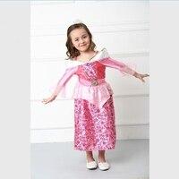 Halloween Costume Festival Children Dress Aurora Sleeping Beauty Pink Dress Princess Dream Dress