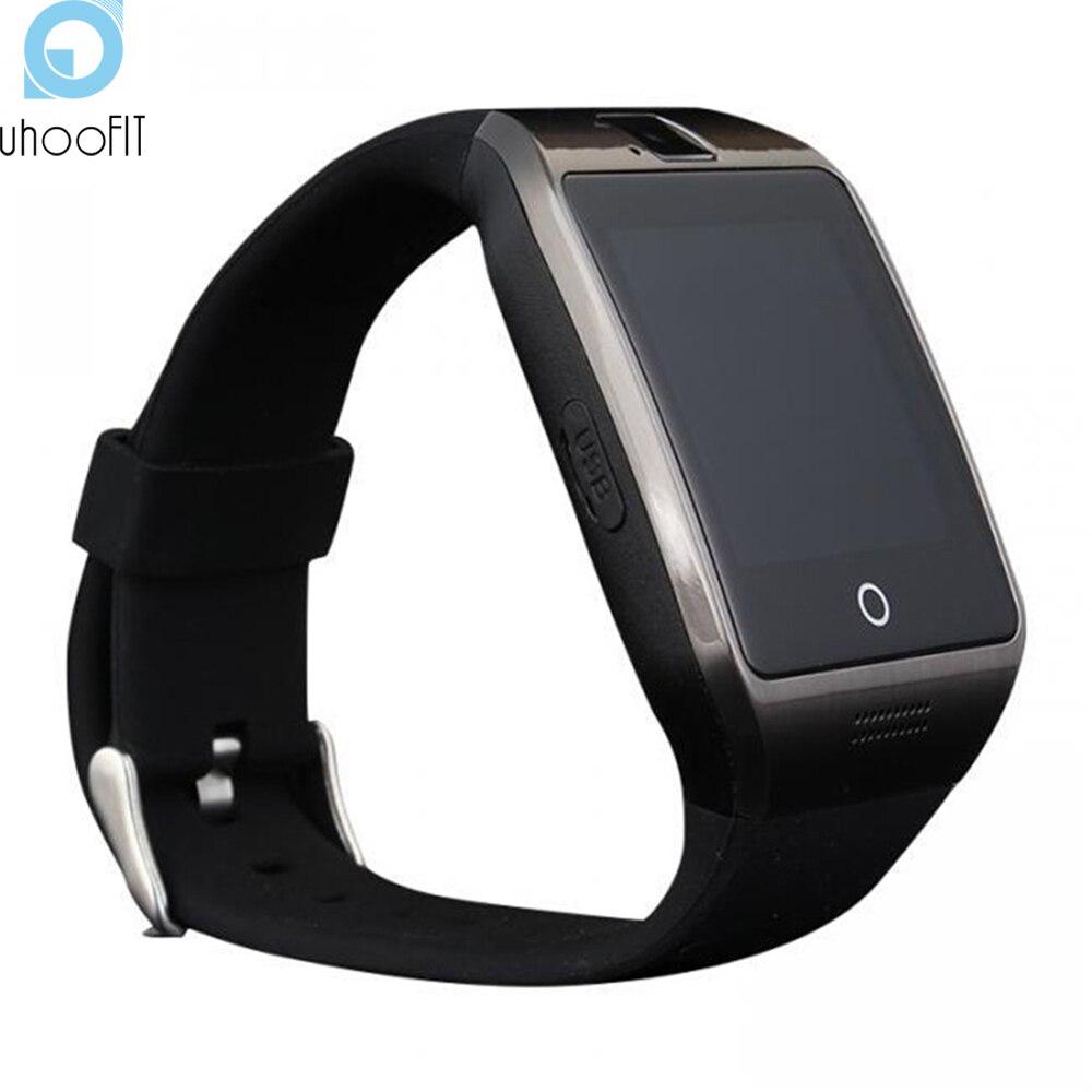 imágenes para Uhoofit Apro Smartwatch Bluetooth Reloj Inteligente Para Android IOS Teléfono Apoyo SMS Tarjeta SIM TF NFC 1.3 M Cámara MP3 T30