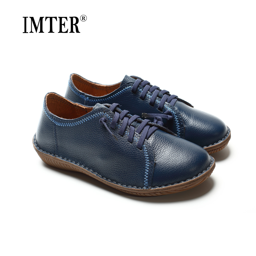 Women Shoes Flat Hand-made Leather Flat Shoes Round toe Lace up Ladies Flat Shoes Female Footwear (568-8) women shoes flat genuine leather hand made ladies flat shoes black brown coffee casual lace up flats woman moccasins 568 5
