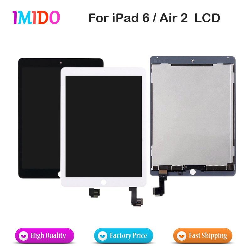AAA Sensor Parts For iPad 6 LCD Display Assembly For iPad Air 2 A1566 A1567 Touch