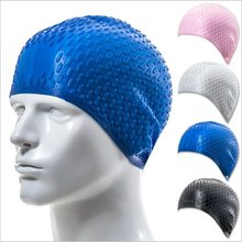 Buy 1 Get 1 Free! Silicone Waterproof Swimming Caps Protect Ears Long Hair Sports Swim Pool Hat with Free Nose clip earplug set(China)