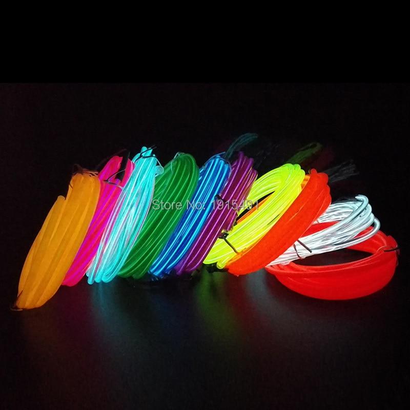 High-grade Flexible Neon Light 5.0mm EL Wire LED Strip Thread 10 Colors Таңдау EL драйверлерді автомобиль безендіру үшін