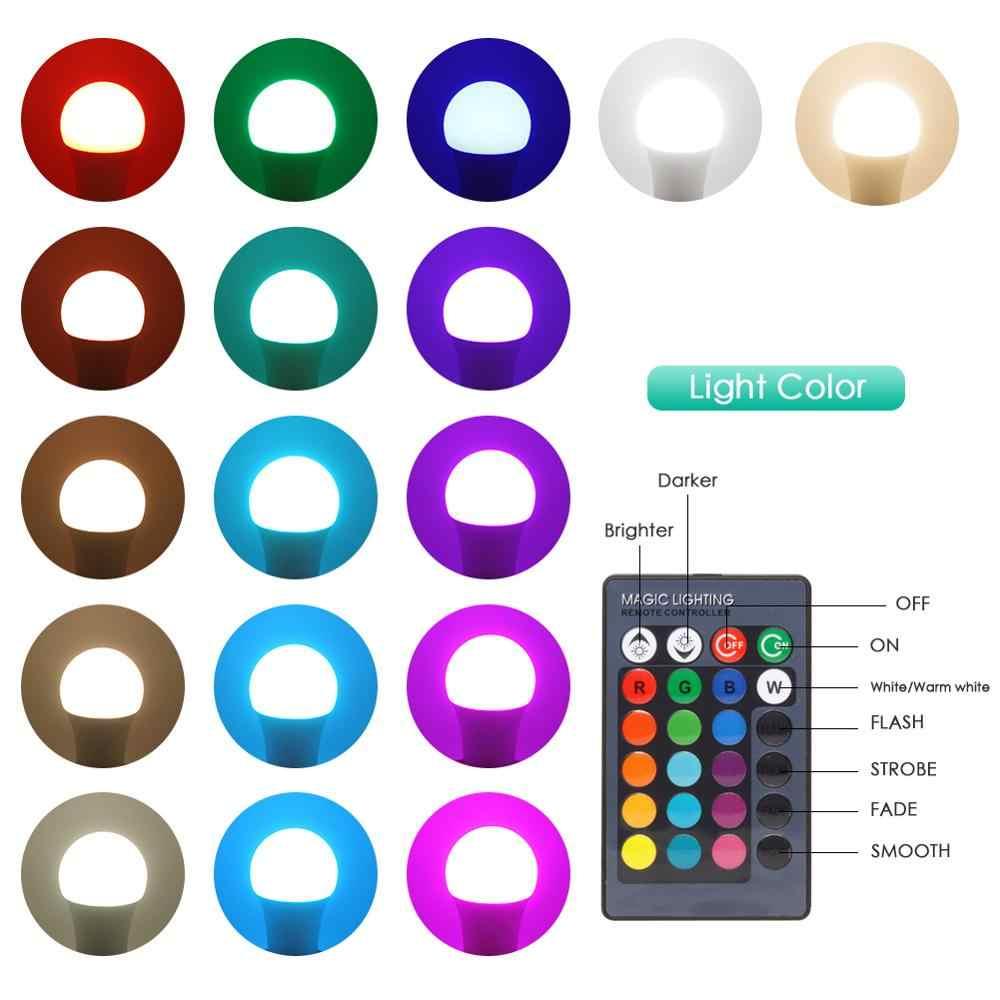 LED rvb ampoule E27 lumière rvb RGBW RGBWW Dimmable IR à distance 5W 10W 15W AC 220V coloré magique vacances barre Club nuit lampe intelligente
