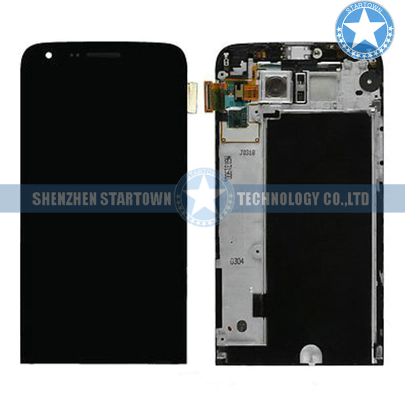 LCD display Digitizer Touch Screen Assembly With Frame and Back Camera For LG G5 H820 H831 H840 H850 VS987 LS992(Black)