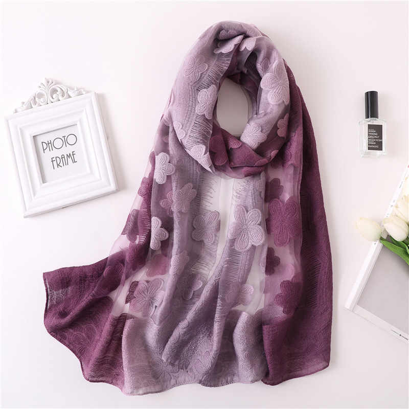 7a62e2bbd ... 2019 spring summer scarf silk scarves for women pashmina shawls and wraps  lady bandana foulard floral ...