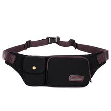 Wholesale New Canvas Waist Pack Casual Bum Hip Bag Belt Phone Bag Case High Quality Fanny Pack For Women Travel Waist Bag