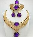 Superior Exquisito Dubai Chapado En Oro de La Joyería de Lujo Gran Boda Nigeriano Perlas Africanas de La Joyería Diseño de Vestuario Heni1