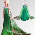 Elza Vestido de Princesa Elsa Anna Vestido Robe de Boda Ana Disfraz Vestido Princesa de La Muchacha Vestidos Lnfant Princesas Fille Azul