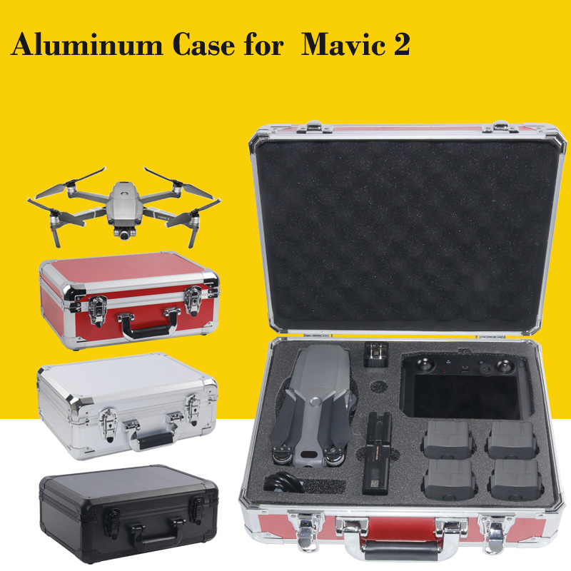 DJI Smart Controller Aluminum Case Water proof Safety Storage Suitcase for DJI Mavic 2 Pro Zoom