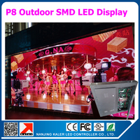 TEEHO 768*768mm P8 LED Display Cabinet use 18pcs P8 RGB LED Panel 256*128mm Outdoor Waterproof LED Cabinet with Receiving Card