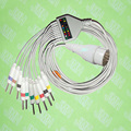 Compatible with Fukuda FX-031 EKG Machine,One-piece ECG cable and leadwires,11PIN,3.0 DIN,IEC or AHA.