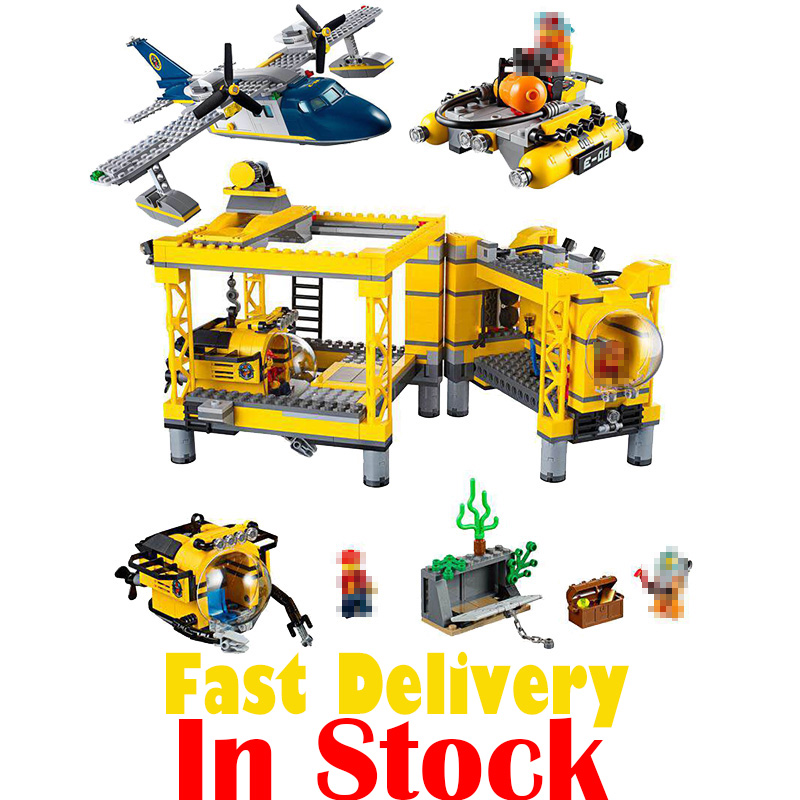 LEPIN 02088 Deep Sea Operation Base City Police Figures Building Blocks Bricks Toys For Children Compatible with legoINGly 60096 lepin 40011 882pcs city series police department model building blocks bricks toys for children gift action figures